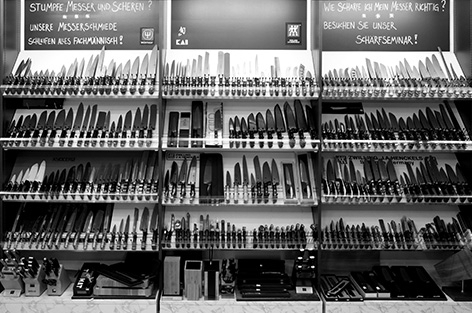 Selection of kitchen knives in the Klö