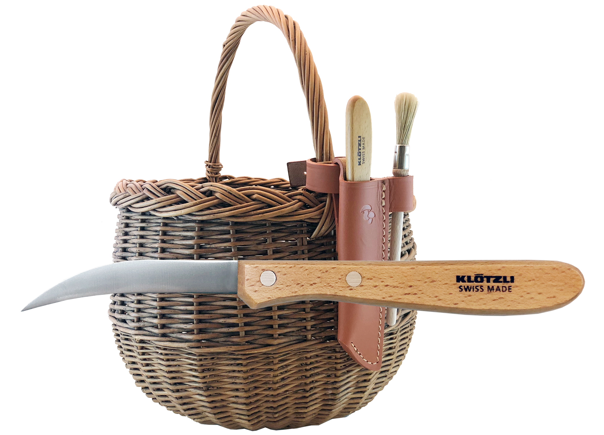 Klötzli Mushroom Basket Knife, made in Switzerland