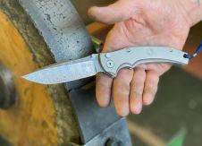 Swiss Border Guard Knife SBG 1, Damast